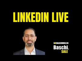 Die LinkedIn Live Videos mit Baschi und Experten vermitteln die Wissen rund um Social Selling und LinkedIn.