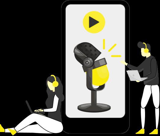 Zeichne deinen eigenen Sales Podcast auf und werde Teil von Social Schweiz.